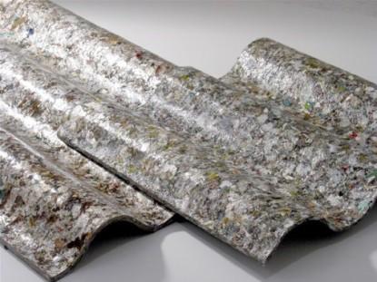 Placas de telhas - reciclagem de embalagens longa vida