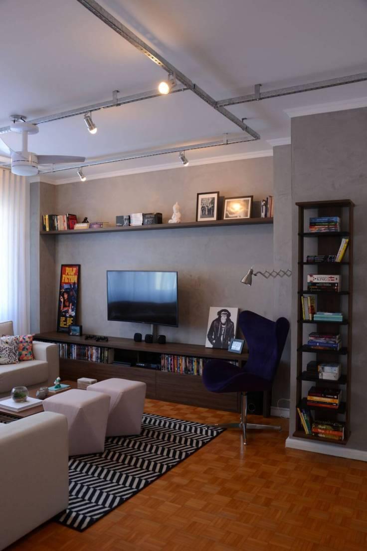 Decoração-com-tapetes-para-sala-de-estar-geométrico-Projeto-de-Nathalia-Bilibio