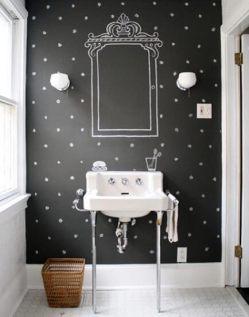 Lavabo-com-parede-de-tinta-lousa