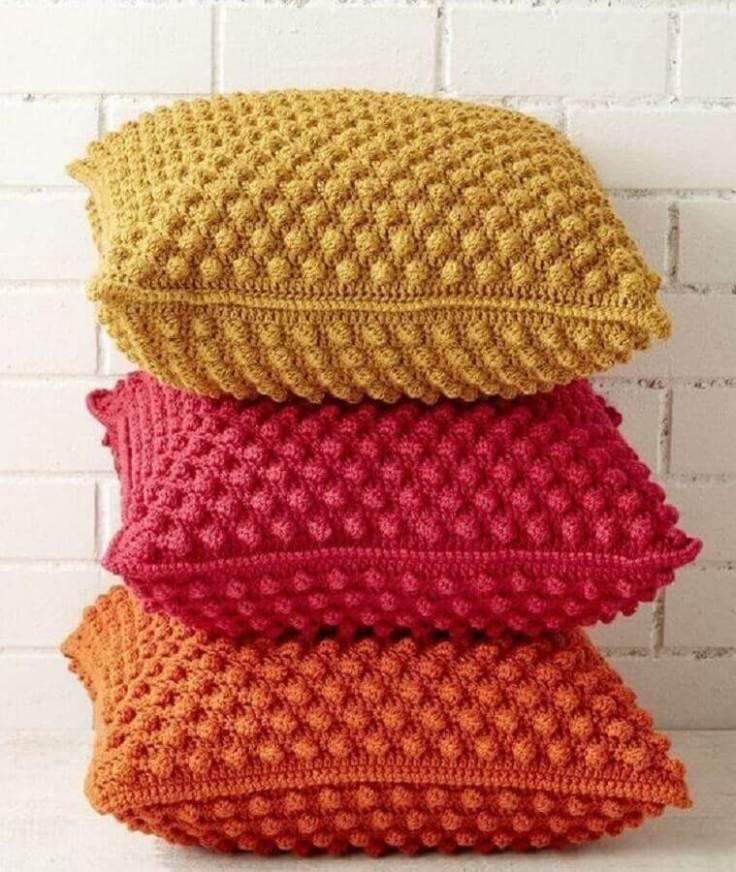 lindas-almofadas-de-crochê-coloridas